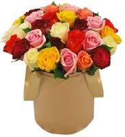 29 разноцветных роз